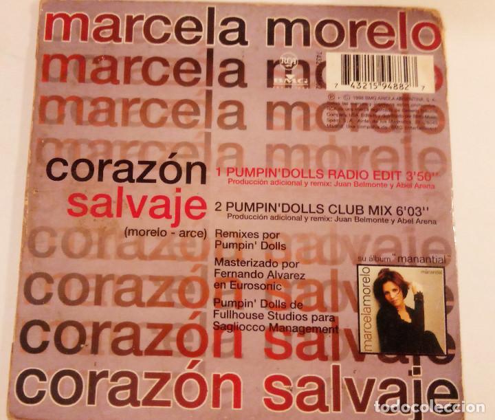 CDs de Música: CD single de MARCELA MORELO : CORAZÓN SALVAJE con 2 mezclas de Pumpin´ Dolls - Foto 2 - 162017678