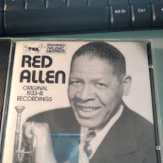 CDs de Música: RED ALLEN - ORIGINAL RECORDINGS 1933-1941. Lote 162132750