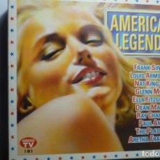 CDs de Música: ESTUCHE CON 3 CDS.AMERICAN LEGENDS SINATRA, AMSTRONG,GLEN MILLER,PAUL ANKA ETC. Lote 162151678