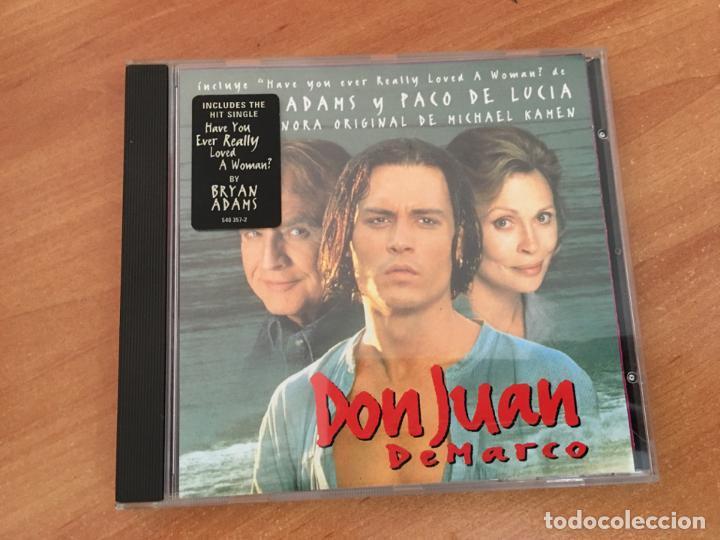 DON JUAN DEMARCO (BRYAN ADAMS Y PACO DE LUCIA) B S O) CD 14 CANCIONES  PORTADA PARA ESPAÑA (CDIM7)