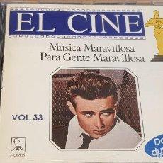 CDs de Música: MÚSICA MARAVILLOSA PARA GENTE MARAVILLOSA / EL CINE / VOL. 33 / CD - 20 TEMAS / LUJO.. Lote 162462178