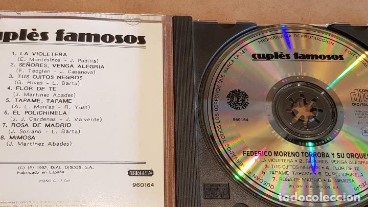 CDs de Música: FEDERICO MORENO TORROBA Y SU ORQUESTA / CUPLÉS FAMOSOS / CD - DOBLON / 8 TEMAS / LUJO. - Foto 2 - 162470450