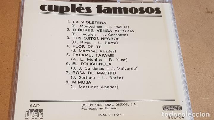 CDs de Música: FEDERICO MORENO TORROBA Y SU ORQUESTA / CUPLÉS FAMOSOS / CD - DOBLON / 8 TEMAS / LUJO. - Foto 3 - 162470450
