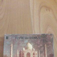 CDs de Música: FLUTE AND SITAR OF INDIA. MUSIC INDIA. CAJA CON DOBLE CD. Lote 162472626