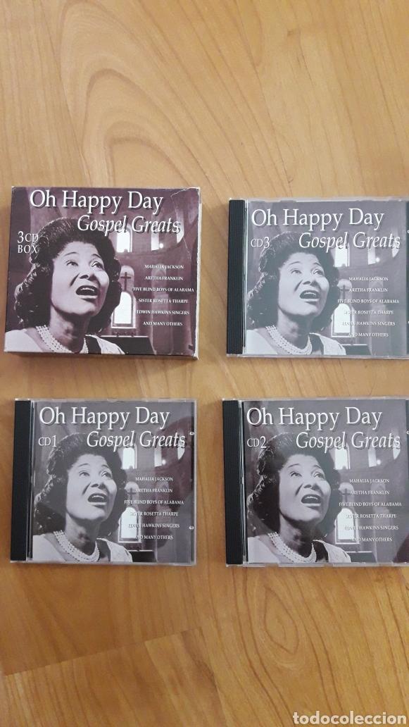 OH HAPPY DAY. GOSPEL GREATS. CAJA CON TRES CDS (Música - CD's Jazz, Blues, Soul y Gospel)