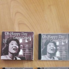 CDs de Música: OH HAPPY DAY. GOSPEL GREATS. CAJA CON TRES CDS. Lote 162473506