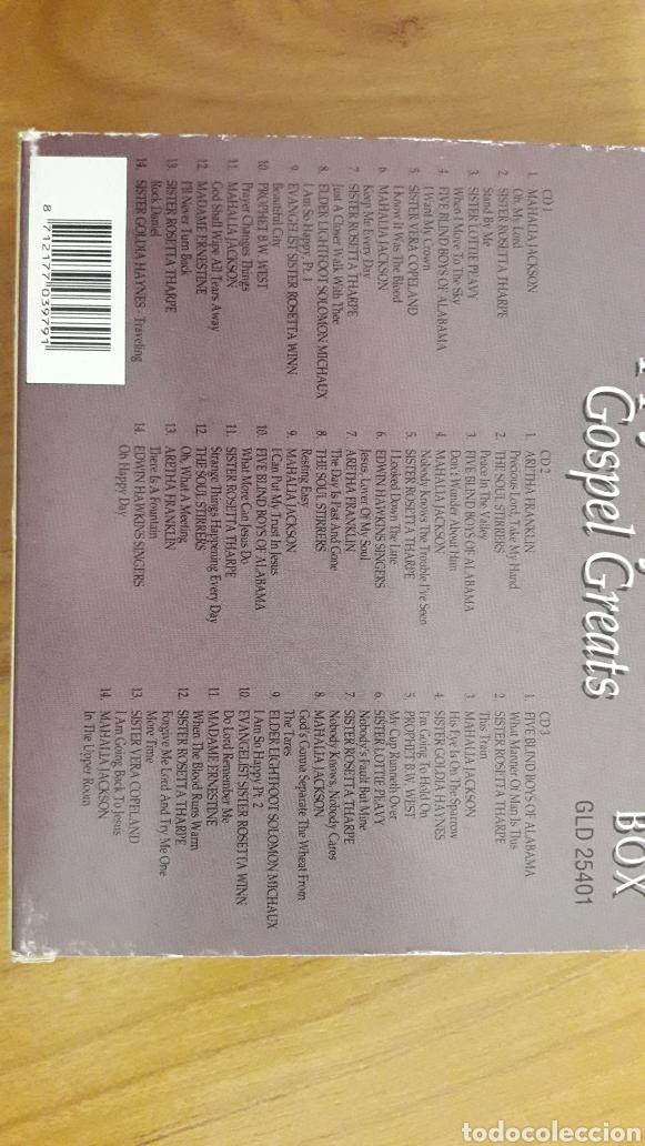 CDs de Música: OH HAPPY DAY. GOSPEL GREATS. CAJA CON TRES CDS - Foto 3 - 162473506