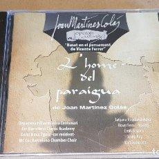 CDs de Música: L'HOME DEL PARAIGUA / OPERA COLLAGE / DE JOAN MARTÍNEZ COLÀS / CD- PRECINTADO.. Lote 162495066