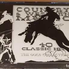 CDs de Música: COUNTRY & WESTERN MUSIC / 40 CLASSIC HITS / DOBLE CD-RETRO GOLD / CALIDAD LUJO.. Lote 162500810