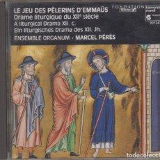 CDs de Música: LE JEU DES PÈLERINS D'EMMAÜS CD ENSEMBLE ORGANUM MARCEL PÉRÈS 1990 MÚSICA MEDIEVAL. Lote 162509818