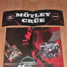 CDs de Música: MOTLEY CRUE RARE PROMOTIONAL SET + 2 CD CARNIVAL..WASP-IRON MAIDEN-GUNS'N'ROSES-SCORPIONS. Lote 162513898