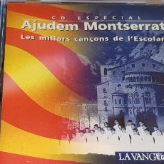 CDs de Música: AJUDEM MONTSERRAT / LES MILLORS CANÇONS DE L'ESCOLANIA / CD-10 TEMAS / LUJO.. Lote 162573350