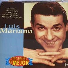 CDs de Música: LUIS MARIANO / SIMPLEMENTE LO MEJOR / CD - DISKY-1997 / 14 TEMAS / CALIDAD LUJO.. Lote 162583186