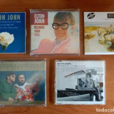 CDs de Música: ELTON JOHN 5 CD SIMPLE LIFE CANDLE IN WIND RECOVER YOUR SOUL LIVE LIKE HORSES THIS TRAIN DON´T STOP. Lote 162584994