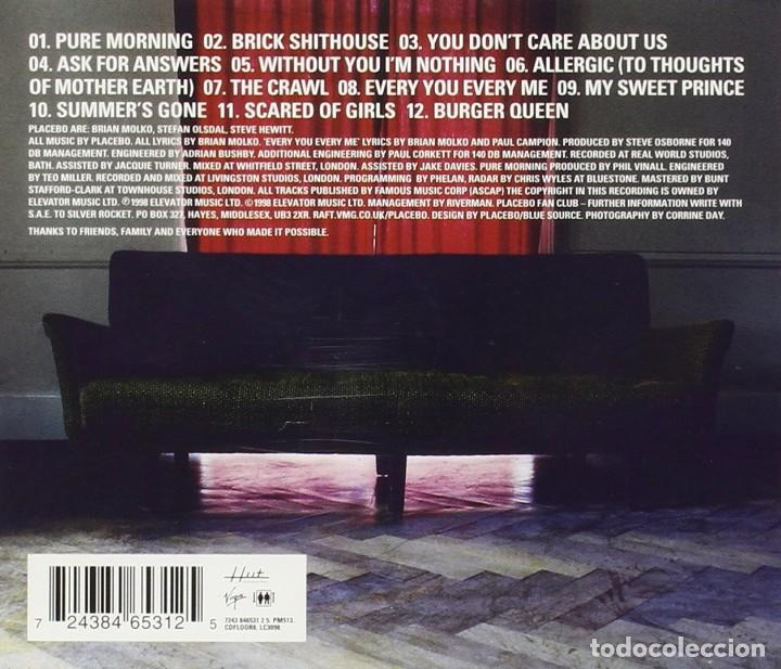 CDs de Música: Placebo - Without You I'm Nothing - CD - Foto 2 - 162616006