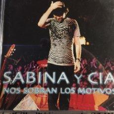 CDs de Música: SABINA Y CÍA. – NOS SOBRAN LOS MOTIVOS (2CDS) (2000). Lote 162800518