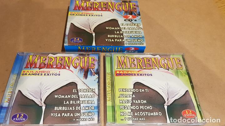 MERENGUE / BAILANDO GRANDES ÉXITOS / PACK 2 CDS - MEDITERRÁNEO MUSIC / 24 TEMAS / LUJO. (Música - CD's Latina)
