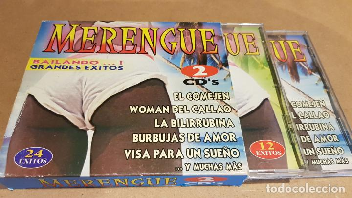 CDs de Música: MERENGUE / BAILANDO GRANDES ÉXITOS / PACK 2 CDS - MEDITERRÁNEO MUSIC / 24 TEMAS / LUJO. - Foto 2 - 162864030