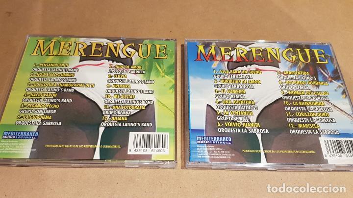 CDs de Música: MERENGUE / BAILANDO GRANDES ÉXITOS / PACK 2 CDS - MEDITERRÁNEO MUSIC / 24 TEMAS / LUJO. - Foto 4 - 162864030