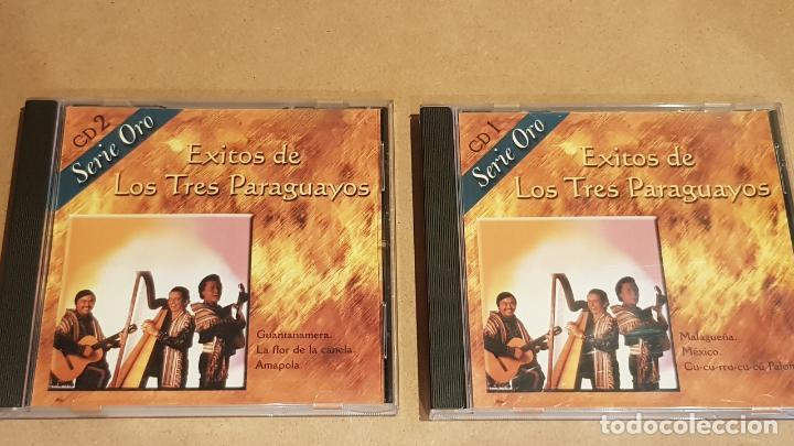ÉXITOS DE LOS TRES PARAGUAYOS / 2 CDS - NEVADA / 24 TEMAS / CALIDAD LUJO. (Música - CD's Latina)