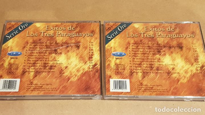 CDs de Música: ÉXITOS DE LOS TRES PARAGUAYOS / 2 CDS - NEVADA / 24 TEMAS / CALIDAD LUJO. - Foto 2 - 162866282