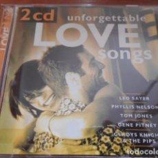 CDs de Música: UNFORGETTABLE LOVE SONGS-2CD. Lote 162913914