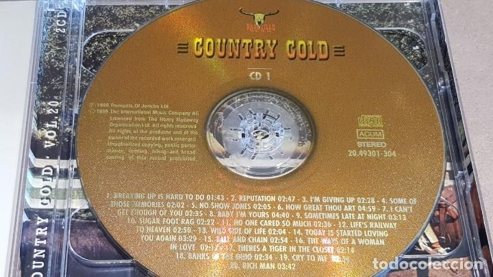 CDs de Música: COUNTRY GOLD / VOL. 20 / VARIOS ARTISTAS / DOBLE CD - NASHVILLE / 40 TEMAS / LUJO. - Foto 2 - 162930590