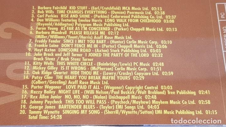 CDs de Música: COUNTRY GOLD / VOL. 20 / VARIOS ARTISTAS / DOBLE CD - NASHVILLE / 40 TEMAS / LUJO. - Foto 5 - 162930590