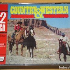 CDs de Música: COUNTRY & WESTERN, DOBLE, CON DOS CD, OESTE. Lote 162966082