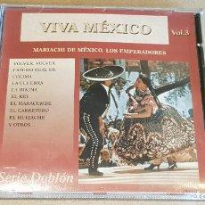 CDs de Música: MARIACHI LOS EMPERADORES / VIVA MÉXICO / VOL. 3 / CD - DOBLON-2003 / 12 TEMAS / LUJO. Lote 163029210