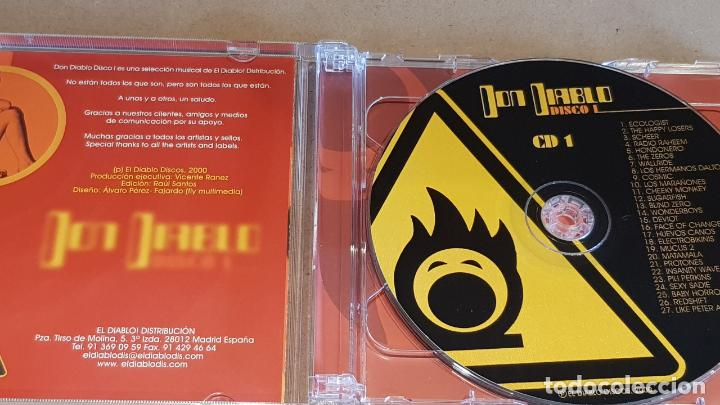 CDs de Música: DON DIABLO / DISCO I / DOBLE CD RECOPILATORIO / 50 TEMAS / CALIDAD LUJO. - Foto 2 - 163032330
