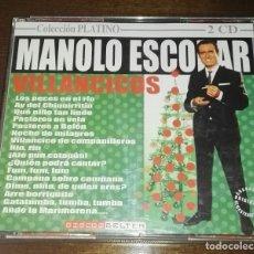 CDs de Música: MANOLO ESCOBAR VILLANCICOS - COLECCIÓN PLATINO 2 CD'S EDICIÓN PORTUGAL NAVIDAD. Lote 163033570
