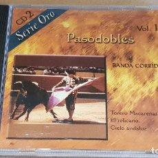 CDs de Música: BANDA CORRIDA / PASODOBLES - VOL. 1 / CD - NEVADA / 1O TEMAS / CALIDAD LUJO.. Lote 163035782