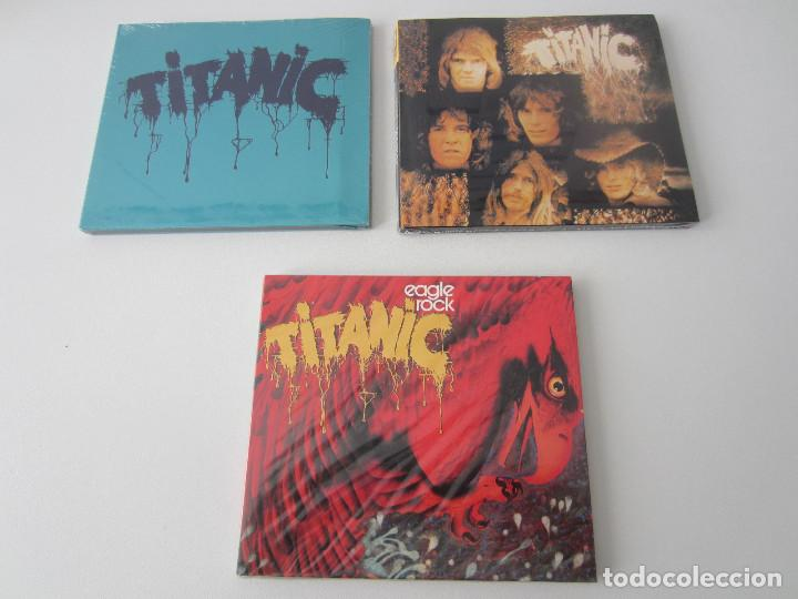 CDs de Música: TITANIC - LOTE 3 (TITANIC + SEA WOLF + EAGLE ROCK) 1970/1973/2000 UE CD * DIGIPACK + 7 BONUS TRACKS - Foto 1 - 163060830