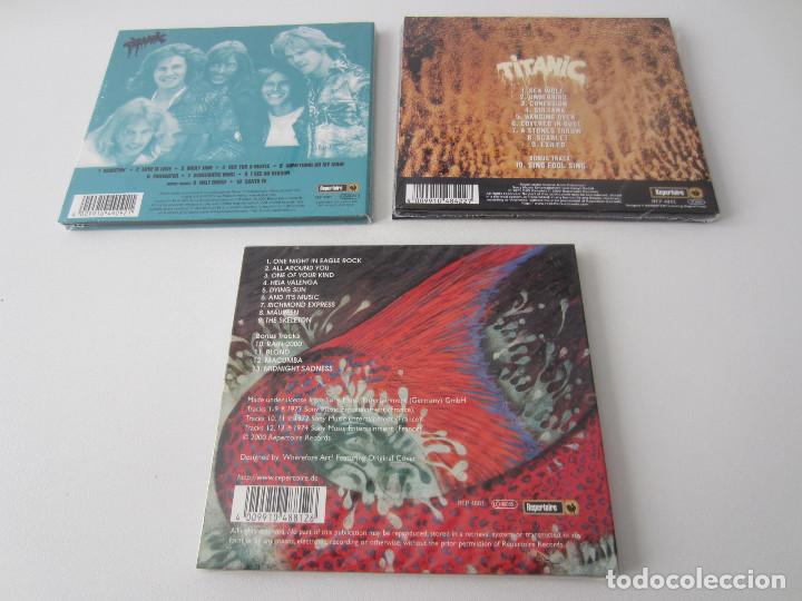 CDs de Música: TITANIC - LOTE 3 (TITANIC + SEA WOLF + EAGLE ROCK) 1970/1973/2000 UE CD * DIGIPACK + 7 BONUS TRACKS - Foto 2 - 163060830