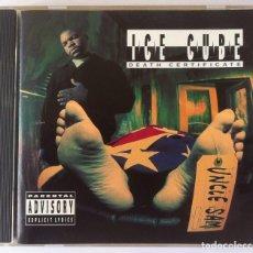 CDs de Música: ICE CUBE - DEATH CERTIFICATE - CD US 1991 - PRIORITY. Lote 163139198