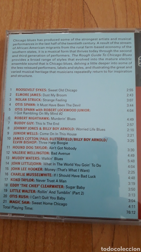 CDs de Música: THE ROUGH GUIDE TO CHICAGO BLUES. MOJO WORKING. ELECTRIC BLUES IN THE CITY - Foto 2 - 163375353