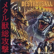 CDs de Música: VV.AA. [FISTULA, SLOTH, RWAKE, SOLACE, DOT (.), HANGNAIL] - DESTROYSALL (A TRIBUTE TO GODZILLA) - CD. Lote 163470274