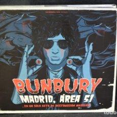 CDs de Música: BUNBURY - MADRID, ÁREA 51 (...EN UN SÓLO ACTO DE DESTRUCCIÓN MASIVA!!!) - 2 CD + 2 DVD. Lote 163479870