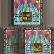 CDs de Música: LOS GRANDES MUSICALES. VOL 1,2,3. 3 CD'S. Lote 163543986