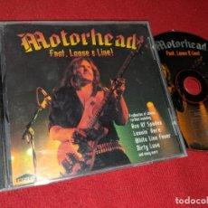 CDs de Música: MOTORHEAD FAST LOOSE E LIVE! CD 1996 EMPORIO COMPILACION. Lote 163545838