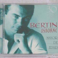 CDs de Música: BERTIN OSBORNE (MAYOR DE EDAD - 30 GRANDES EXITOS) 2 CD'S 2000. Lote 117187351