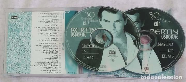 CDs de Música: BERTIN OSBORNE (MAYOR DE EDAD - 30 GRANDES EXITOS) 2 CDs 2000 - Foto 3 - 117187351