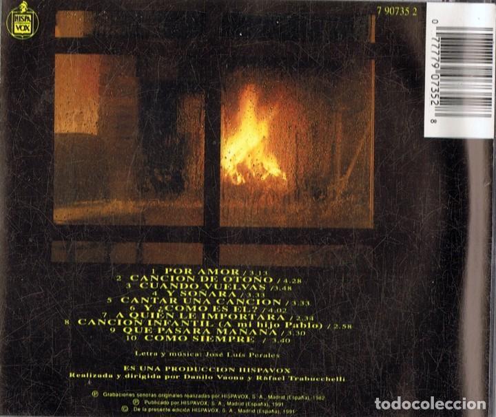 CDs de Música: JOSE LUIS PERALES ENTRE EL AGUA Y EL FUEGO (CD) - Foto 2 - 163712822