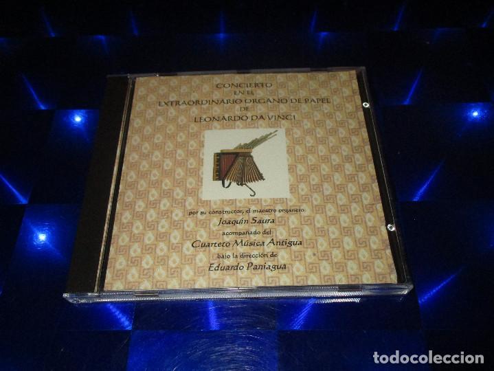 CDs de Música: CONCIERTO EN EL EXTRAORDINARIO ORGANO DE PAPEL DE LEONARDO DA VINCI - CD - JOAQUIN SAURA - Foto 2 - 163748138