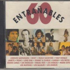 CDs de Música: ENTRAÑABLES 60 CD LONE STAR PICNIC MIGUEL RÍOS MUSTANG SALVAJES BRUNO LOMAS LOS MÓDULOS 1993. Lote 163784346
