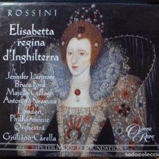 CDs de Música: ROSSINI - ELISABETTA REGINA D'INGHILTERRA (CAJA 3 CD + LIBRETO OPERA RARA 2002). Lote 163849750