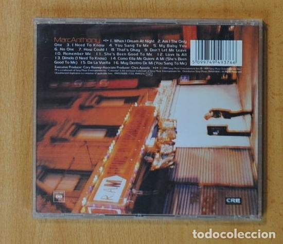 CDs de Música: MARC ANTHONY - MARC ANTHONY - CD - Foto 2 - 163914640