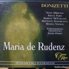 CDs de Música: DONIZETTI - MARIA DE RUDENZ (CAJA 2 CD + LIBRETO OPERA RARA 1998). Lote 163916086