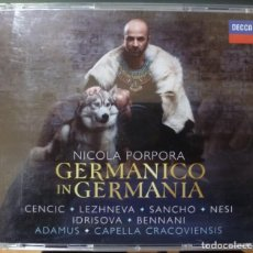 CDs de Música: PORPORA - GERMANICO IN GERMANIA (CAJA 3 CD + LIBRETO DECCA 2017). Lote 163925574